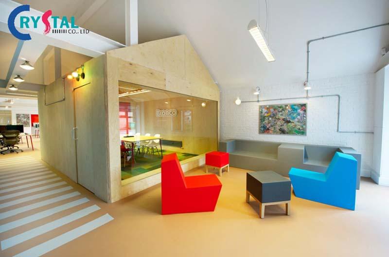 ý tưởng thiết kế văn phòng đa năng - Crystal Design TPL