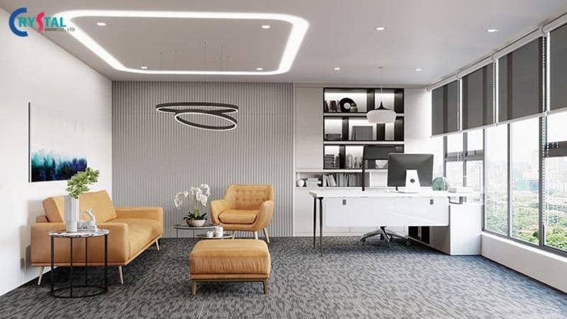 yếu tố ảnh hưởng đến việc thiết kế nội thất văn phòng - Crystal Design TPL