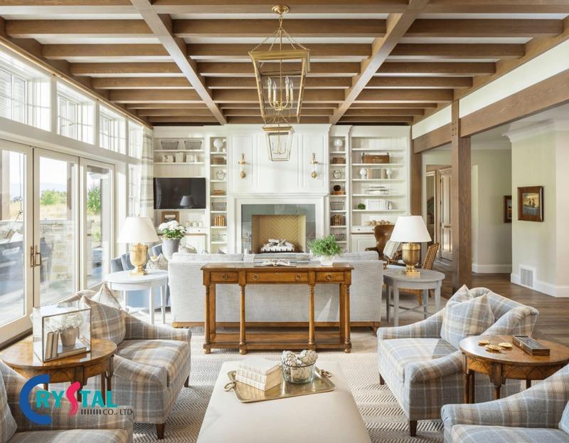 đặc điểm phong cách nội thất thô mộc - Crystal Design TPL