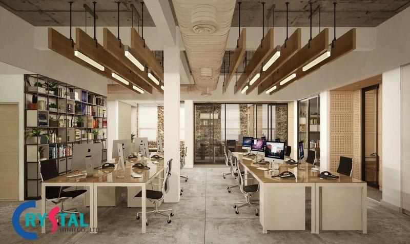 mẫu văn phòng đẹp - Crystal Design TPL