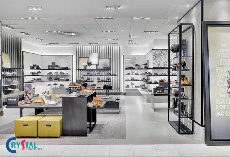 nội thất showroom đẹp hiện đại - Crystal Design TPL