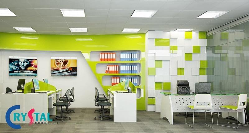 nội thất văn phòng cao cấp - Crystal Design TPL