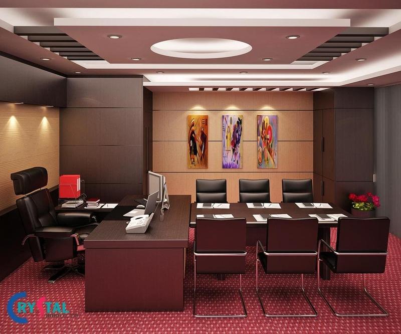nội thất văn phòng công ty đẹp - Crystal Design TPL