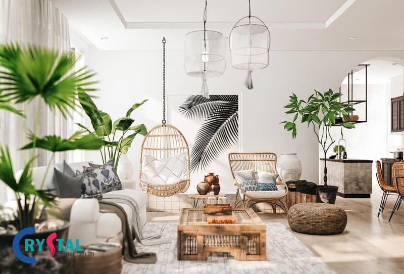 phong cách nhiệt đới trong thiết kế nội thất