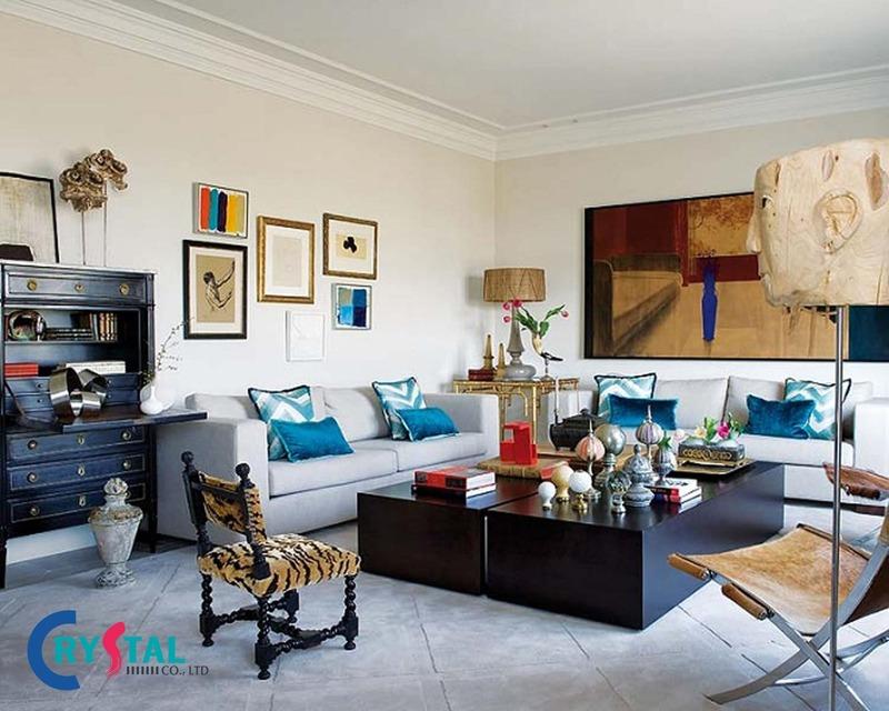 phong cách nội thất chiết trung là gì - Crystal Design TPL
