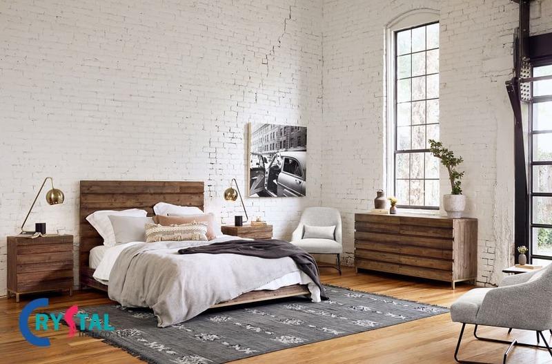 phong cách nội thất mộc mạc - Crystal Design TPL