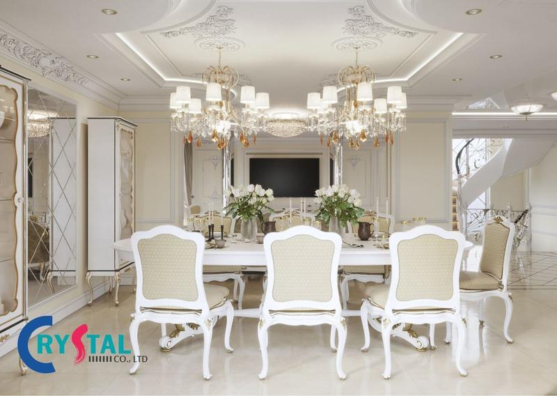phong cách thiết kế nội thất cổ điển - Crystal Design TPL