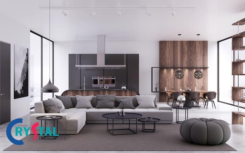 phong cách thiết kế nội thất urban đẹp