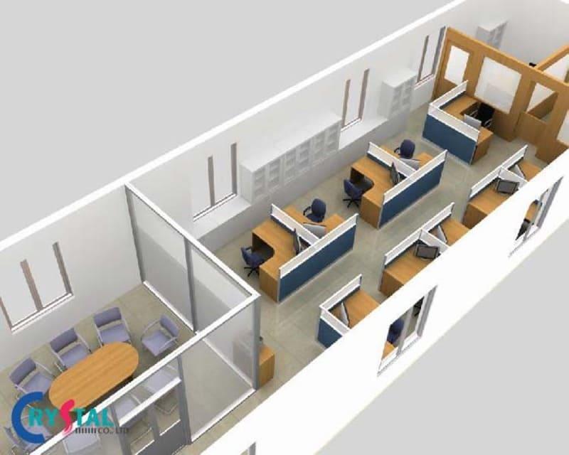 thi công nội thất văn phòng trọn gói tại hà nội