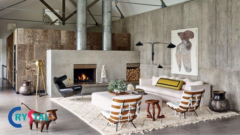 thiết kế nhà theo phong cách nội thất thô mộc - Crystal Design TPL