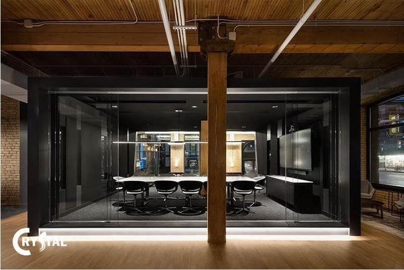 thiết kế nội thất phòng họp đẹp - Crystal Design TPL