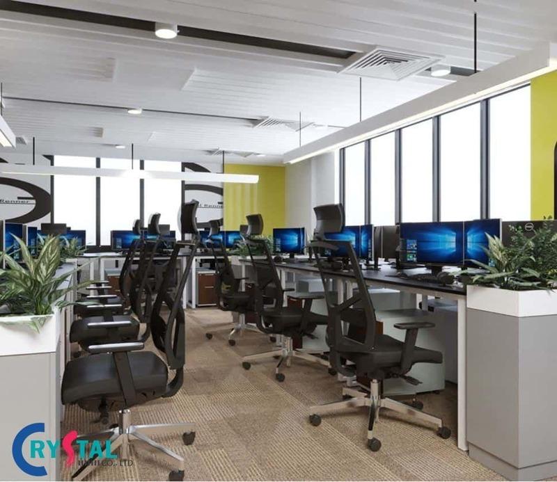 thiết kế văn phòng công ty đẹp - Crystal Design TPL