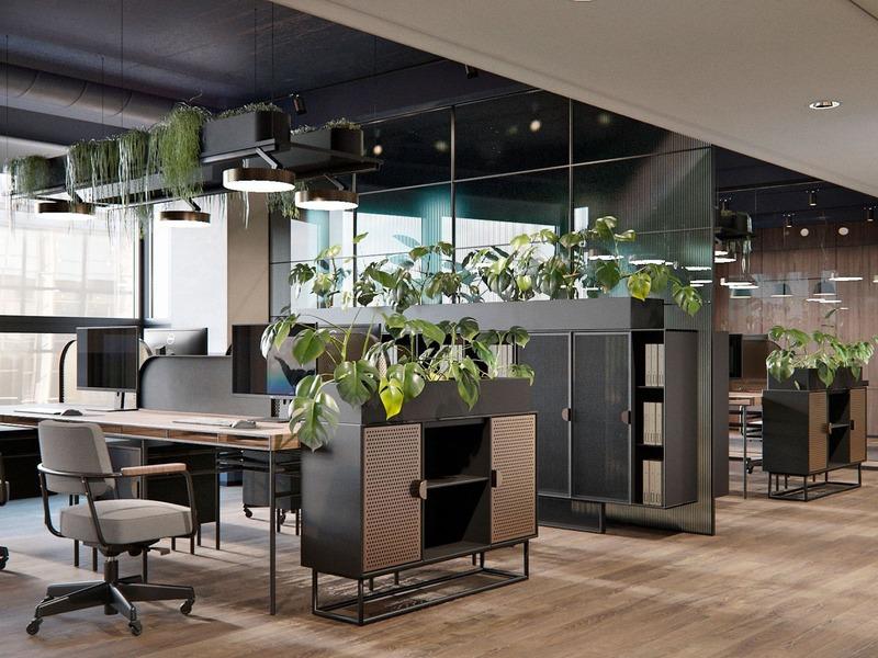 thiết kế văn phòng hiện đại - Crystal Design TPL