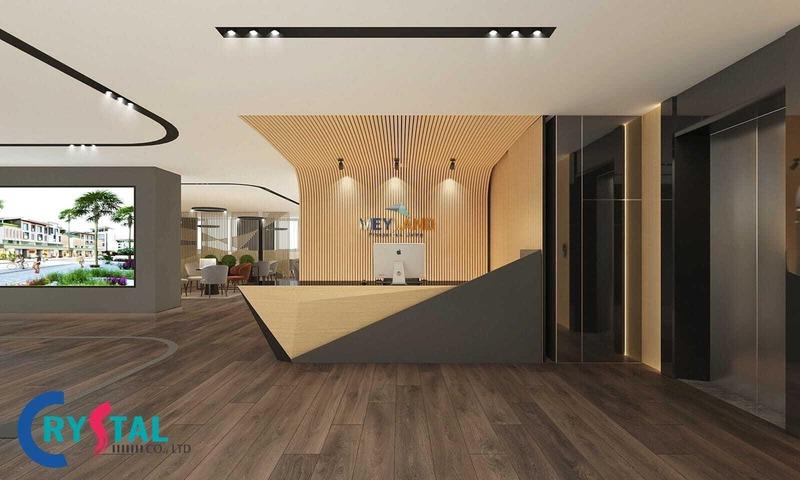 thiết kế văn phòng làm việc - Crystal Design TPL