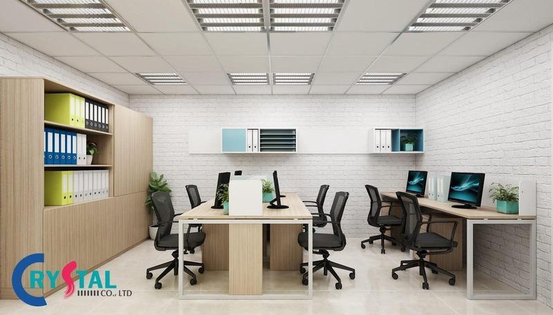 thiết kế văn phòng làm việc hiện đại đẹp - Crystal Design TPL