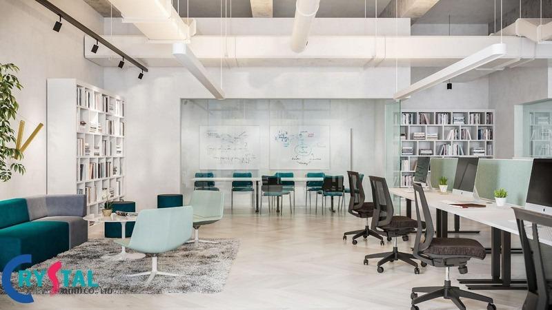 thiết kế văn phòng - Crystal Design TPL