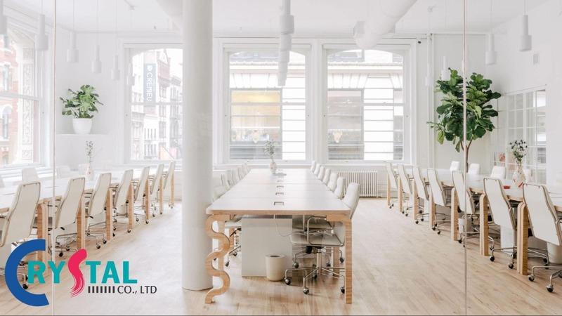 tiêu chuẩn thiết kế văn phòng cao tầng - Crystal Design TPL