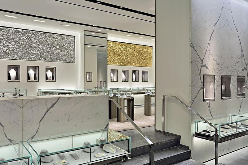 ánh sáng trong thiết kế cửa hàng trang sức - Crystal Design TPL