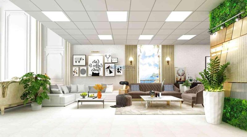 báo giá chi phí xây dựng showroom - Crystal Design TPL