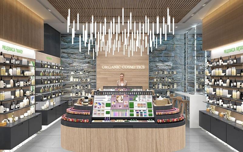 cách bài trí cửa hàng mỹ phẩm - Crystal Design TPL