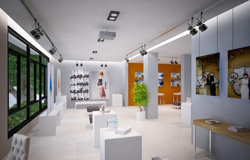 chi phí thiết kế showroom là bao nhiêu - Crystal Design TPL