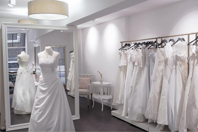 không gian thiết kế showroom áo cưới