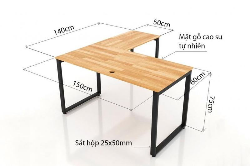 kích thước bàn - Crystal Design TPL