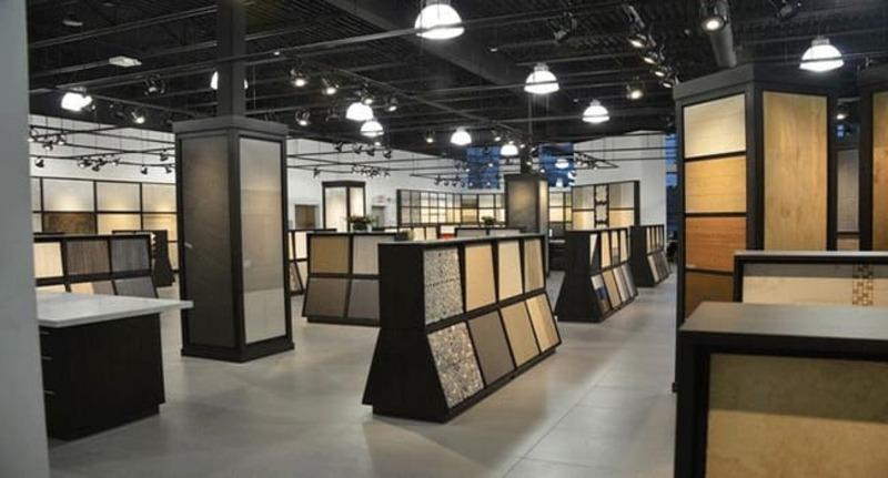 mẫu showroom gạch ốp lát ấn tượng - Crystal Design TPL