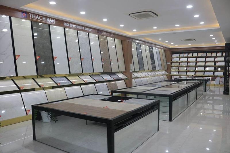mẫu showroom trưng bày gạch ốp lát - Crystal Design TPL