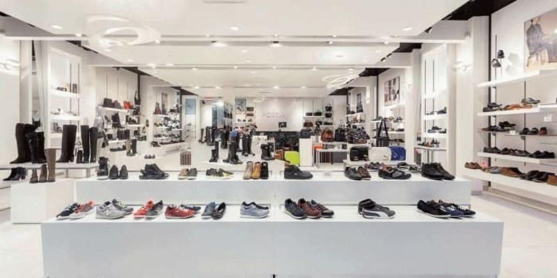 mẫu thiết kế cửa hàng giày dép thời trang - Crystal Design TPL