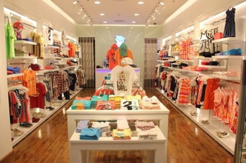mẫu thiết kế cửa hàng quần áo trẻ em - Crystal Design TPL