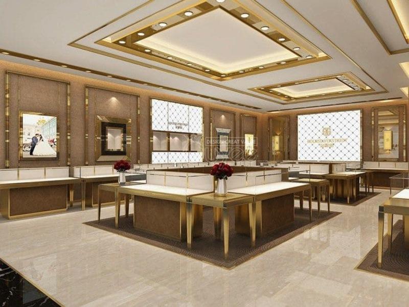 mẫu thiết kế cửa hàng vàng bạc ấn tượng - Crystal Design TPL