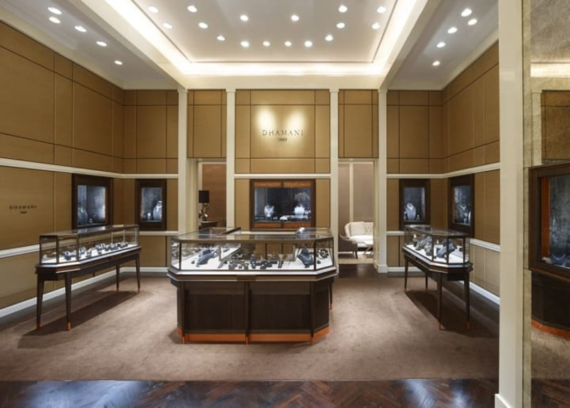 mẫu thiết kế cửa hàng vàng bạc đẹp - Crystal Design TPL