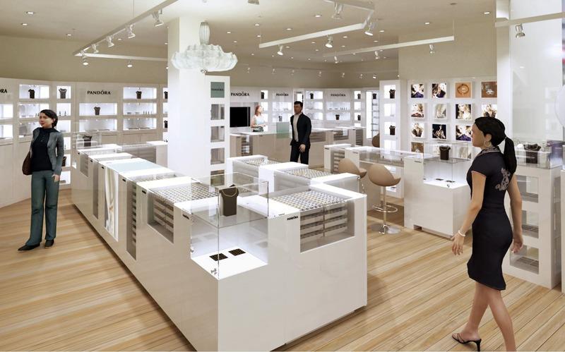 mẫu thiết kế cửa hàng vàng bạc trang sức nhỏ - Crystal Design TPL