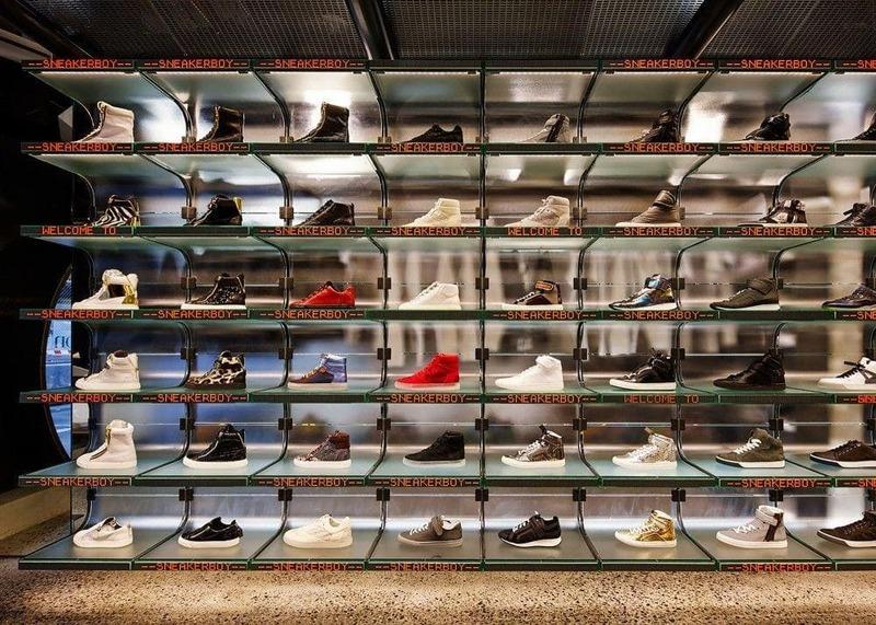 mẫu thiết kế shop bán giày dép - Crystal Design TPL