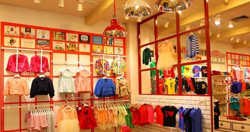 mẫu thiết kế shop quần áo trẻ em đẹp - Crystal Design TPL