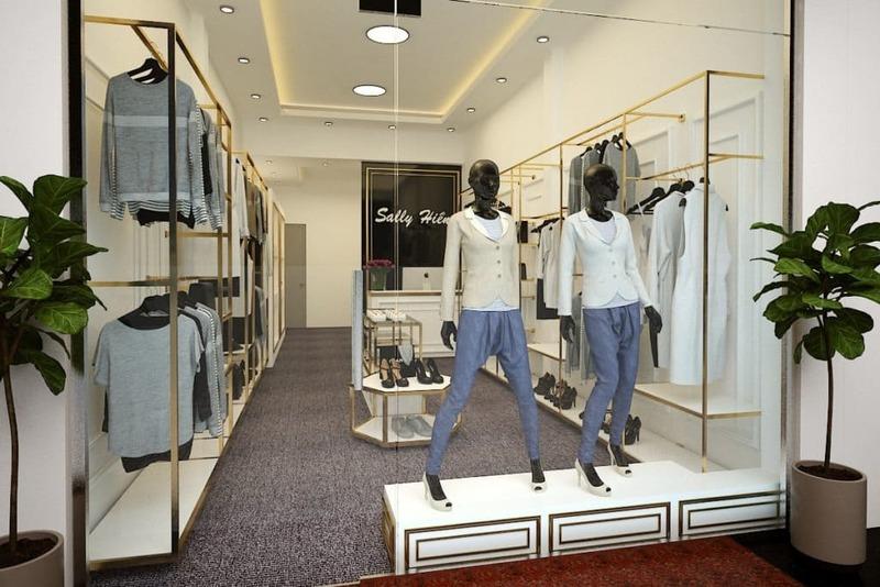 mẫu thiết kế shop quần áo trẻ em - Crystal Design TPL