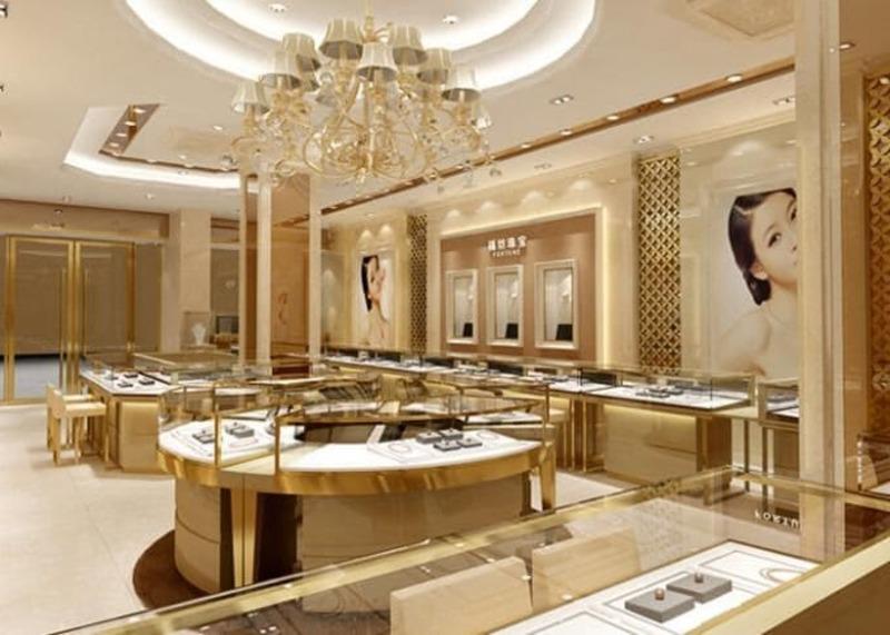 mẫu thiết kế shop showroom trang sức ấn tượng - Crystal Design TPL