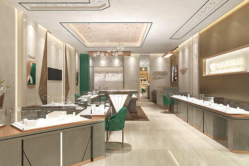 thiết kế shop trang sức - Crystal Design TPL