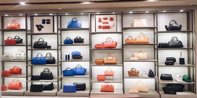 mẫu thiết kế shop túi xách