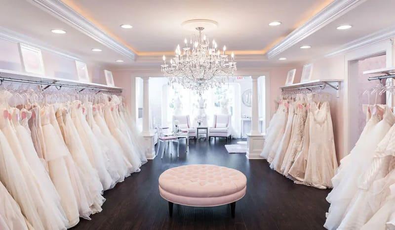 mẫu thiết kế showroom áo cưới đẹp