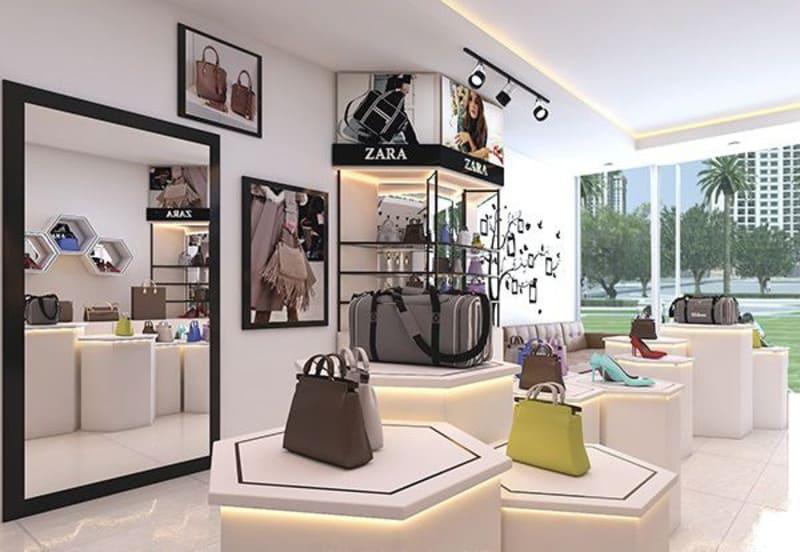 mẫu thiết kế showroom túi xách