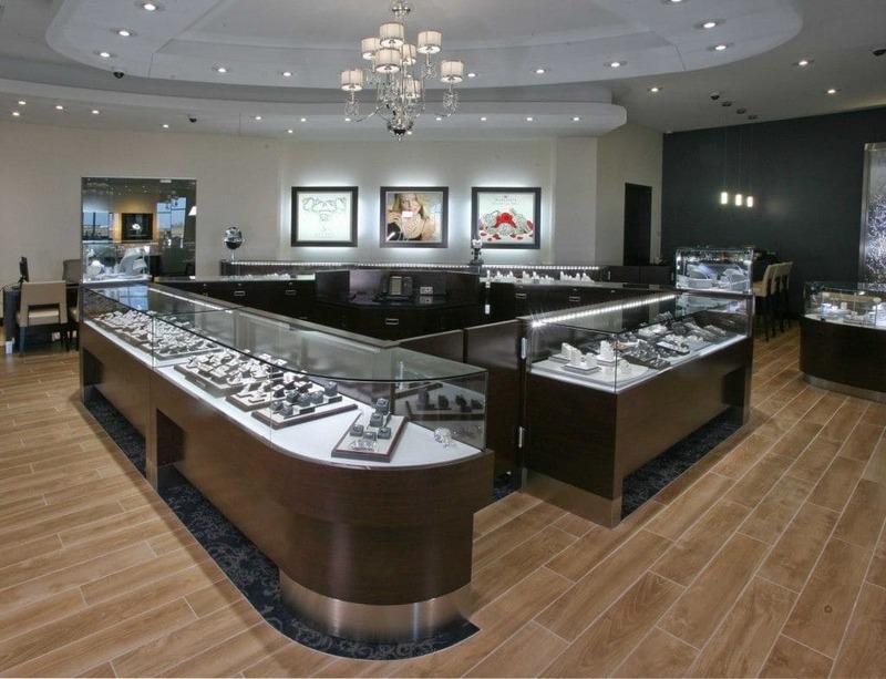 mẫu thiết kế tiệm trang sức ấn tượng - Crystal Design TPL
