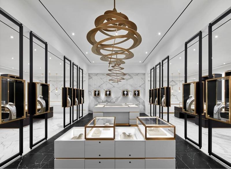 mẫu thiết kế tiệm trang sức sang trọng - Crystal Design TPL