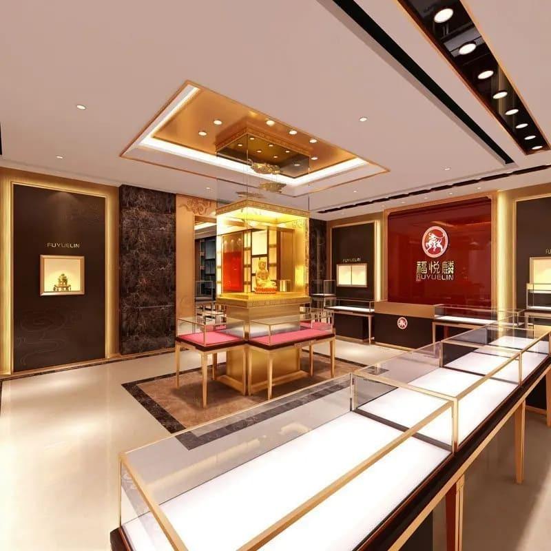 mẫu thiết kế tiệm trang sức - Crystal Design TPL