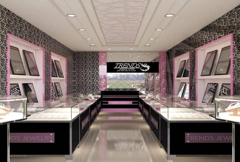 những mẫu thiết kế cửa hàng vàng bạc - Crystal Design TPL