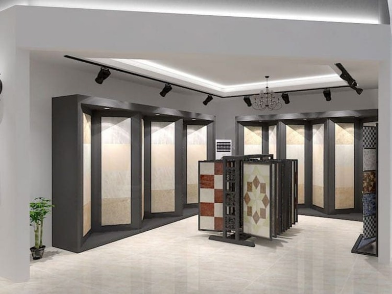 showroom trưng bày gạch ốp lát - Crystal Design TPL