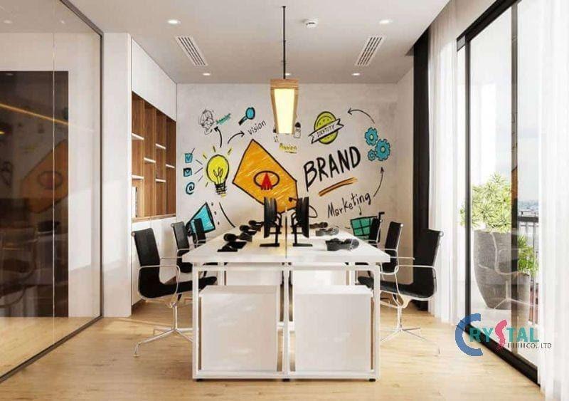 thiết kế ánh sáng văn phòng - Crystal Design TPL