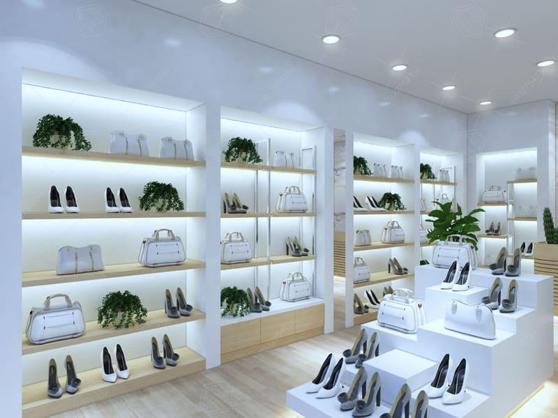 thiết kế cửa hàng bán túi xách