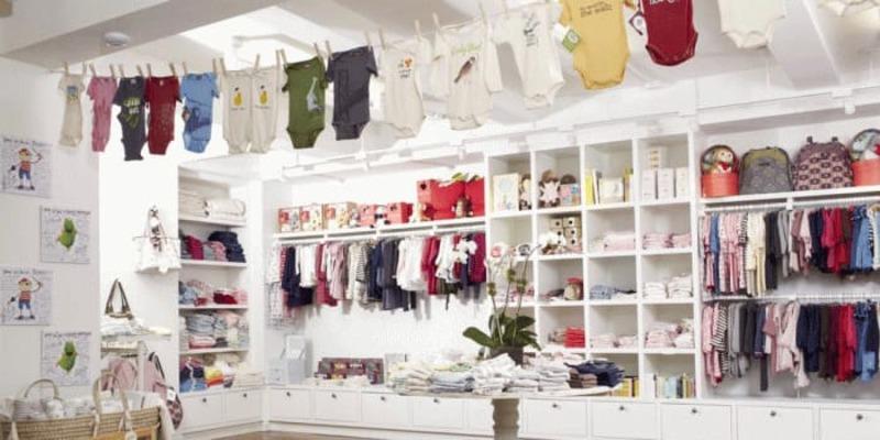 thiết kế cửa hàng quần áo trẻ em - Crystal Design TPL